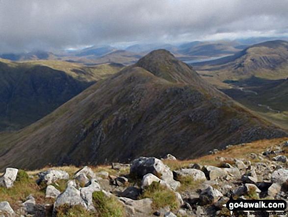 Stob Coire Raineach (Buachaille Etive Beag) from the summit of Buachaille Etive Beag (Stob Dubh)