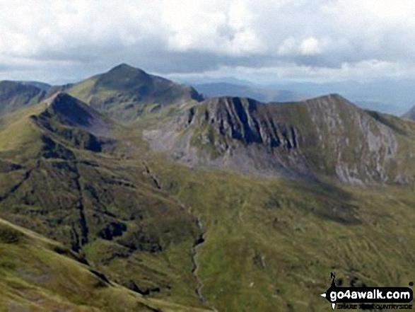 Walk Stob Coire a' Chairn walking UK Mountains in Fort William and Loch Linnhe to Loch Ericht  Highland    Scotland