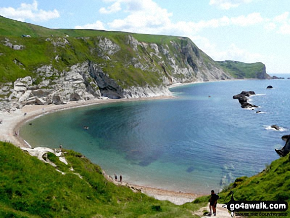 St Oswald's Bay and Dungy Head from Durdle Door, The South West Coast Path