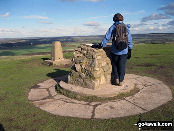 On the summit of Ivinghoe Beacon - one end of The Ridgeway