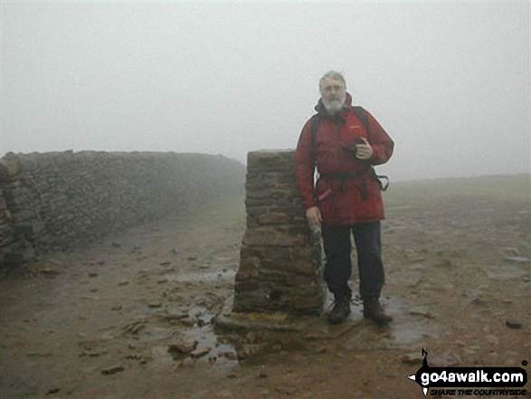 John Fenton on Pen-y-ghent walk Three Peaks Of Yorkshire North Yorkshire England walks