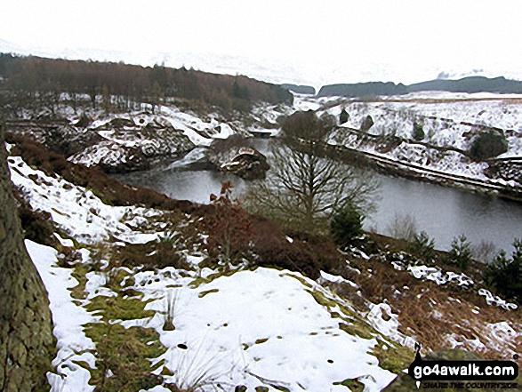 Ramsden Reservoir in the snow