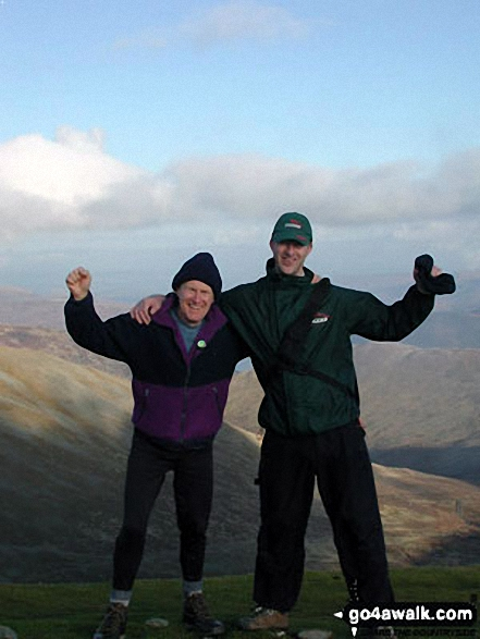 John and Tony on top of Helvellyn