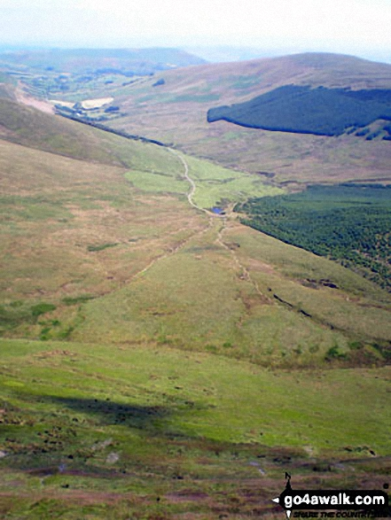 Walk Craig Berwyn walking UK Mountains in The Berwyns Snowdonia National Park*<br> Denbighshire Powys Wrexham  Wales