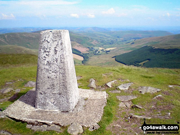 Cadair Berwyn (North Top) summit trig point