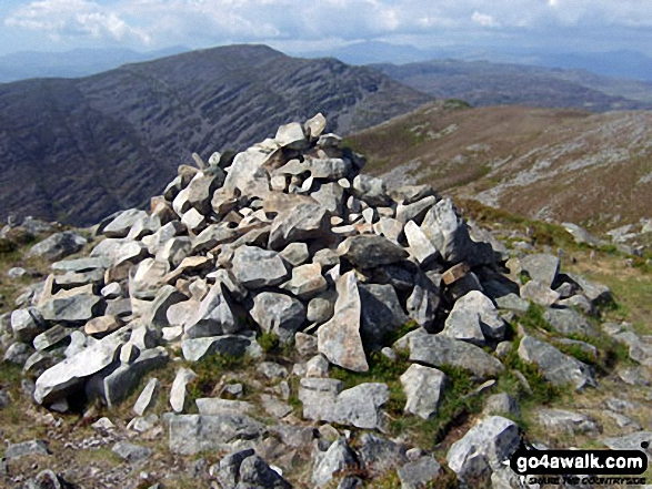 Rhinog Fawr from the Rhinog Fach summit cairn