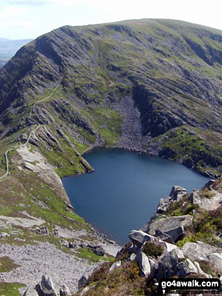 Y Llethr and Llyn Hywel from the summit of Rhinog Fach