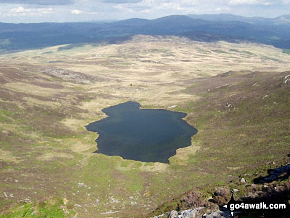 Llyn y Bi from the summit of Rhinog Fach