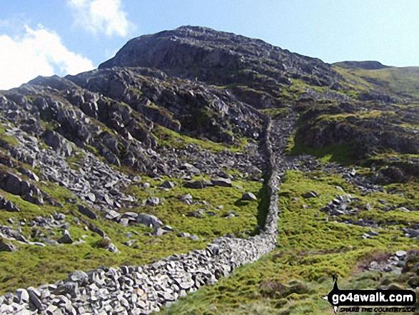 Y Llethr from the pass above Llyn Hywel