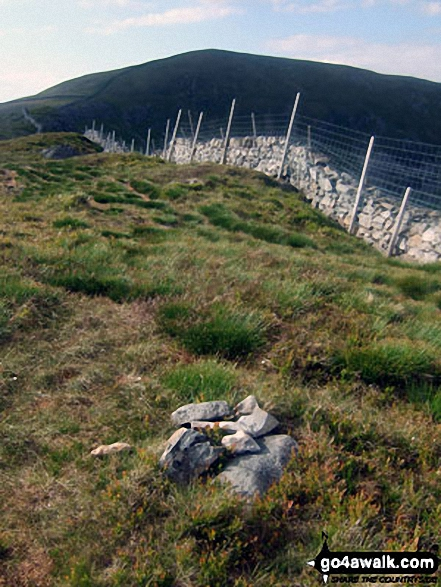 Y Llethr from the modest cairn on the summit of Crib-y-rhiw