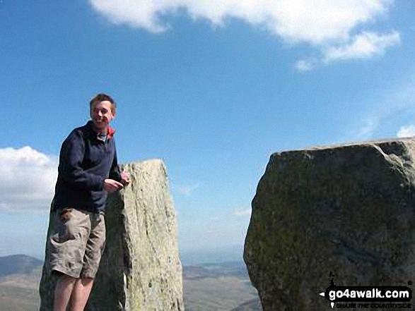 Me on Tryfan in Snowdonia Gwynedd Wales