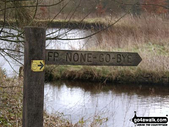 Unusual signpost near Embsay Reservoir