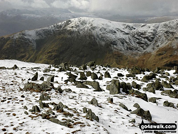 Great Rigg from Hart Crag. Walk route map c247 The Fairfield Horseshoe from Ambleside photo