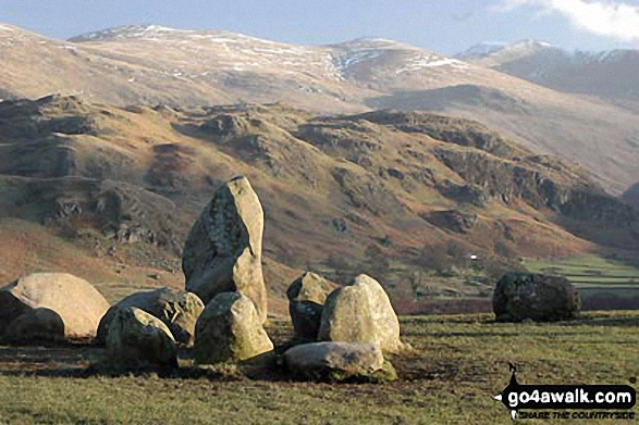Winter Evening at Castlerigg Stone Circle