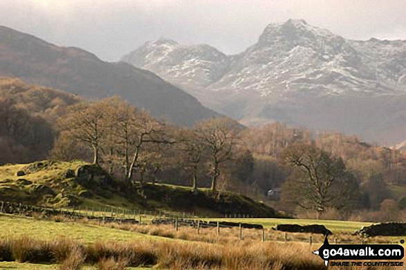 The Langdales from Elterwater