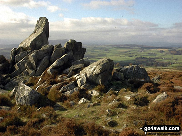 Walk Picture/View: Rock formations on Stiperstones (Manstone Rock) in The Shropshire Hills, Shropshire, England by John Holt (7)