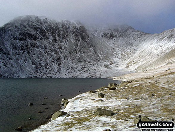 Helvellyn and Swirral Edge (top right) from Red Tarn (Helvellyn)