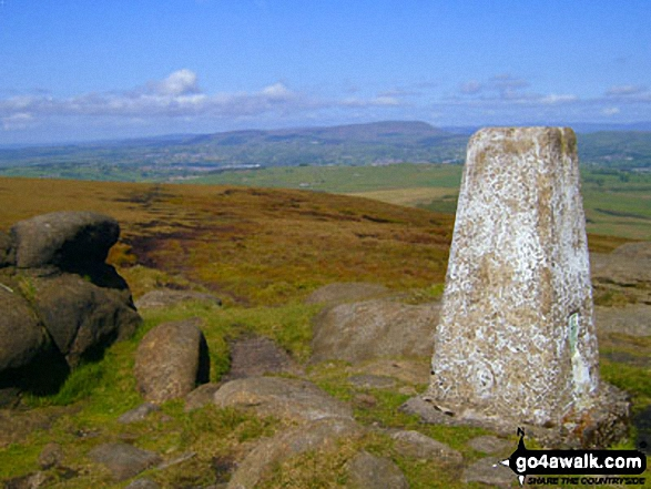 Pendle Hill from the summit of Lad Law (Boulsworth Hill)