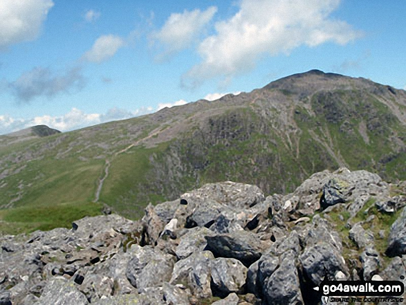 The Minffordd Path, Craig Cau and Cadair Idris (Penygadair) from Craig Cwm Amarch