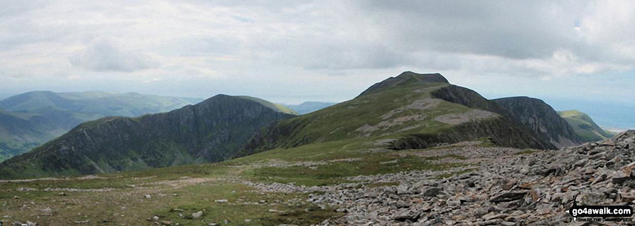 Craig Cwm Amarch and Cadair Idris (Penygadair) from Mynydd Moel