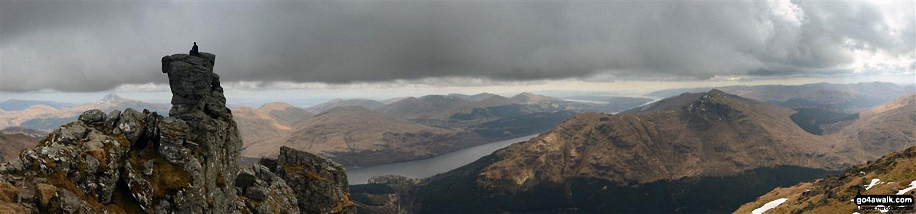 The Cobbler (Ben Arthur) (left), Loch Long and The Brack (right)