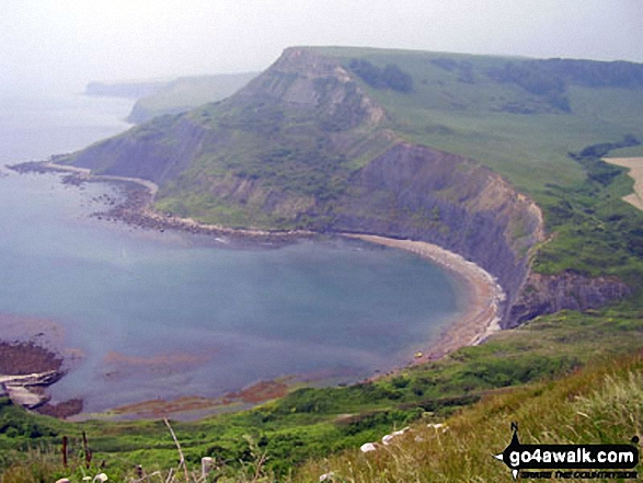 Chapman's Pool and Houns-tout Cliff from St Aldhelm's Head (or St Alban's Head), The South West Coast Path