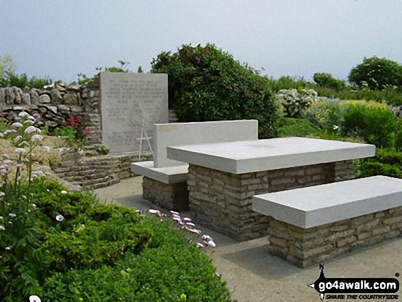 War memorial on the South West Coast Path near St Aldhelm's Head (St Alban's Head)