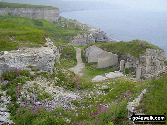 Disused quarry at Winspit, The South West Coast Path