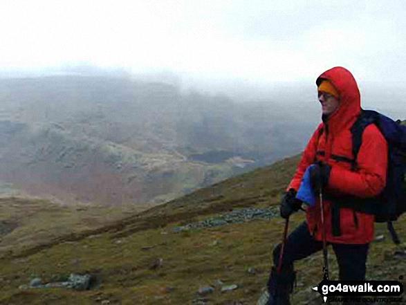 Paul on Scafell Pike walk The Lake District Cumbria England walks