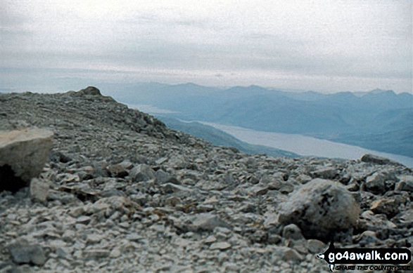 The summit of Ben Nevis,  the highest point in Fort William and Loch Linnhe to Loch Ericht Photo: John Reed