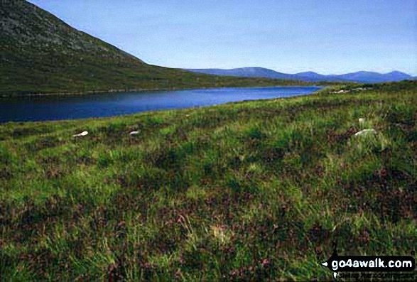 Lochan Meall an t-Suidhe en-route to Ben Nevis. Walk route map h154 Ben Nevis and Carn Mor Dearg from The Nevis Range Mountain Gondola photo