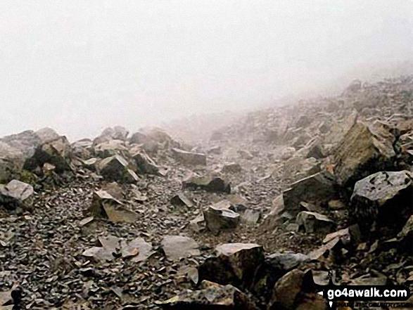 Mist on Ben Nevis Summit