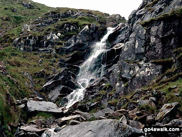 Waterfall from the Ben Nevis Tourist Path
