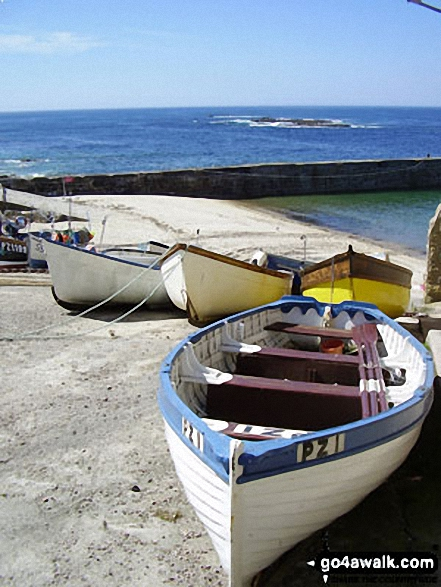Walk co115 Sennen Cove from Land's End - Fishing Boats in Sennen Cove,<br>The South West Coast Path