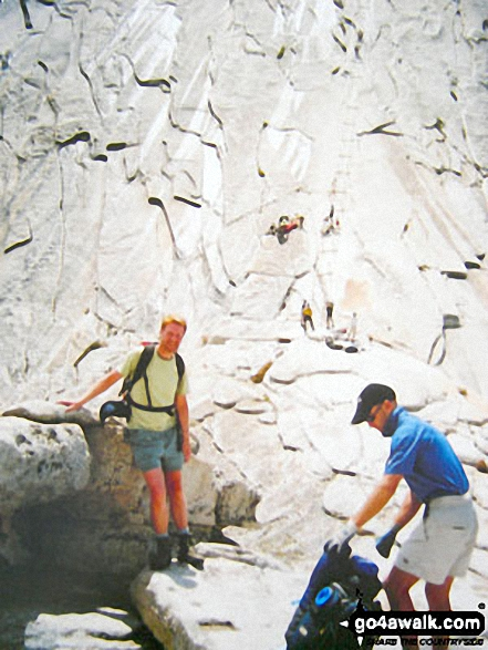 Me waiting patiently on Half Dome in Yosemite National Park California USA
