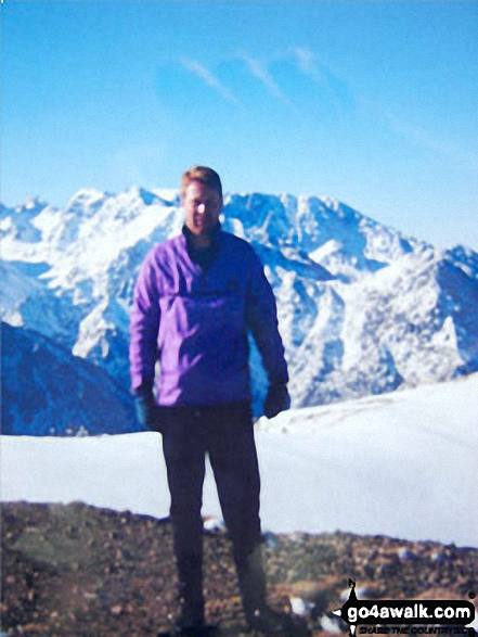 On Mount Toubkal, <br>The High Atlas Mountains, Morocco. Walk route map c271 The Scafell Massif from Wasdale Head, Wast Water photo