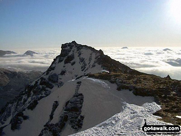 The final push to the summit of Ben Lui (Beinn Laoigh) last spring, made all the better by a temperature inversion