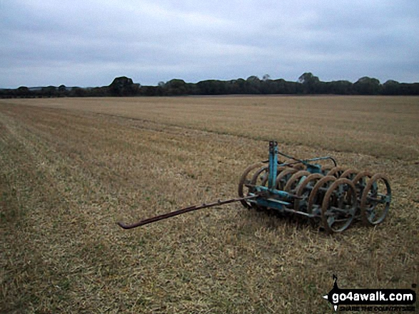 Farm Machinery near Fulborn. Walk route map ca129 Little Wilbraham from Fulbourn photo