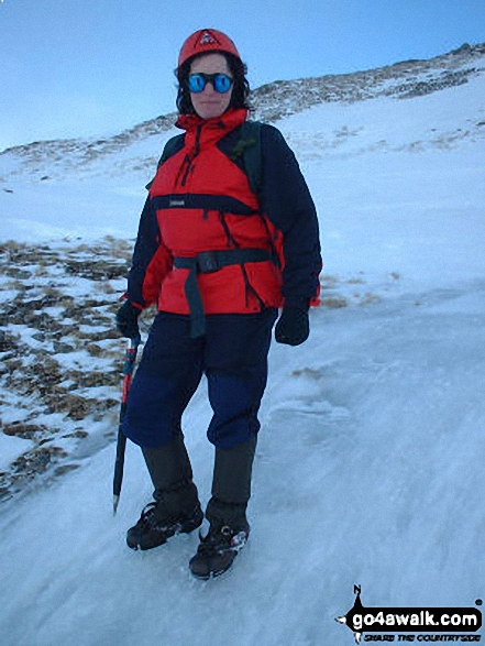 Me on Meall Odhar walk Glenshee Perth and Kinross Scotland walks