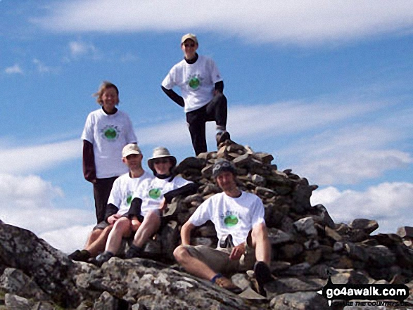 Me and friends on Carn Dearg (Loch Pattack)