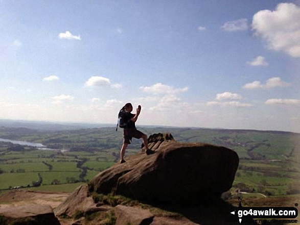 Me and my favourite rock on The Roaches