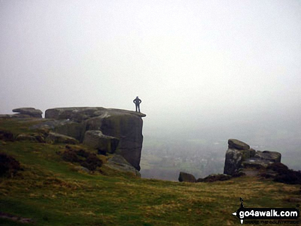 On Froggatt Edge last Saturday Not so much of a view - but I`d still rather be out soaking this up, than watching the telly indoors!