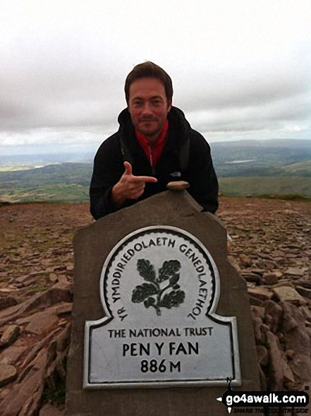 A very cold day but my boyfriend and I finally made it to the top of Pen y Fan summit