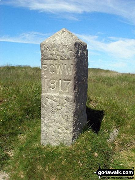 Boundary Stone on South Hessary Tor