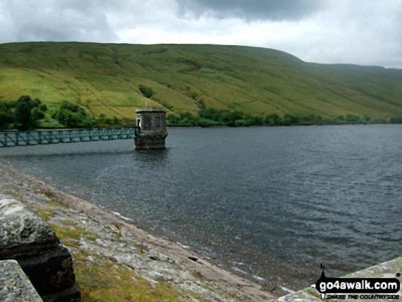 Ystradfellte Reservoir with Fan Llia beyond