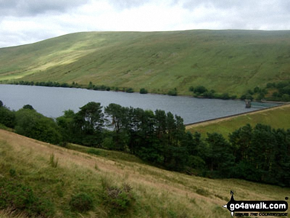 Fan Fawr and Ystradfellte Reservoir from the upper slopes of Cwm Dringarth