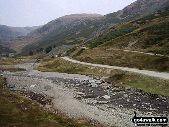 Walk c222 Swirl How and Wetherlam from Coniston - Old mine workings in the Levers Water Beck valley