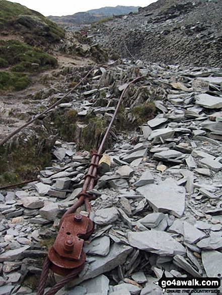 Old mine equipment above Crowberry Haws