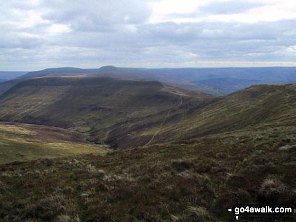 Pen Cerrig-calch, Pen Allt-mawr, Tal-Trwynau, Pen Twyn Glas, Mynydd Llysiau and Pen Trumau from Waun Fach