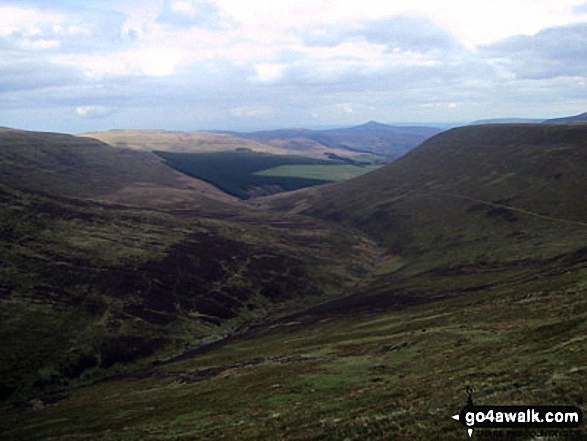 The Grwyne Fechan valley and Darren Fach from Pen Trumau